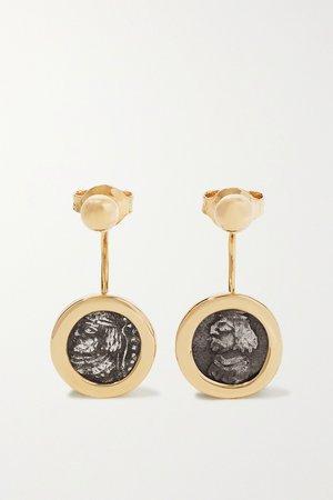 Gold 18-karat gold and silver earrings   Dubini   NET-A-PORTER