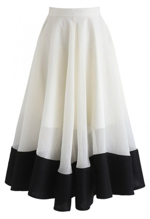 Swing In the Breeze Organza Midi Skirt - Skirt - BOTTOMS - Retro, Indie and Unique Fashion