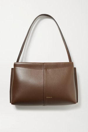 Carly Mini Leather Tote - Chocolate