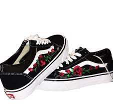 vans with roses