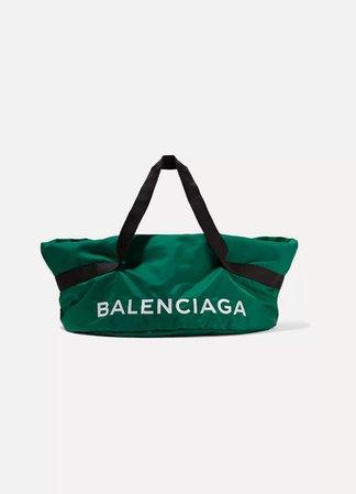 Wheel Embroidered Shell Bag - Green