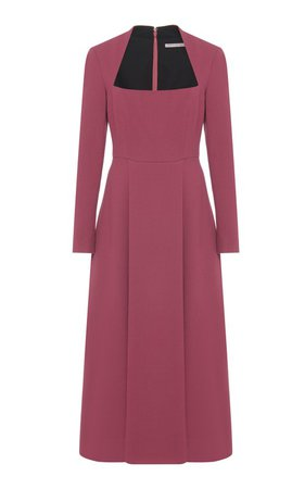 Glenda Pleated Wool Midi Dress by Emilia Wickstead | Moda Operandi