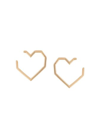Aliita 18kt yellow gold heart earrings $379 - Buy Online - Mobile Friendly, Fast Delivery, Price