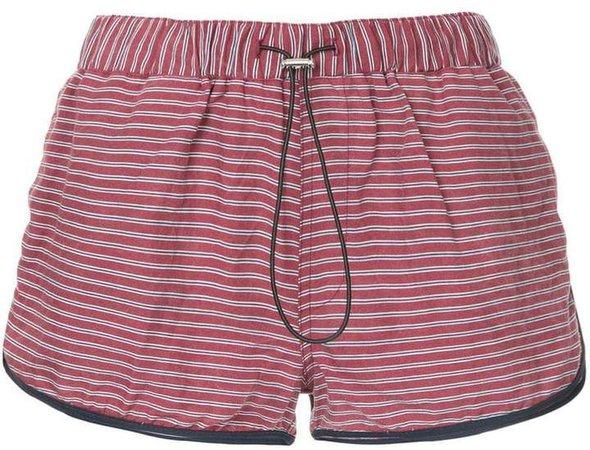 striped runner shorts