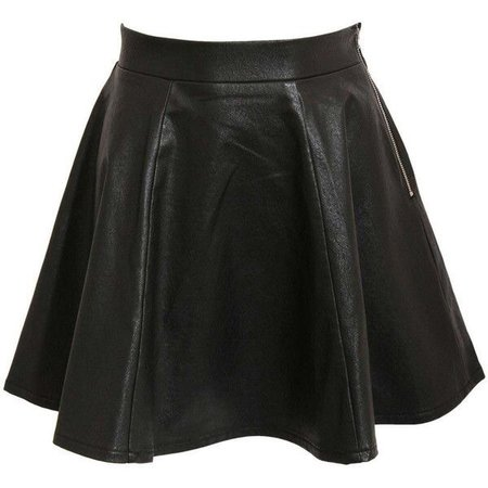 Pilot Sydnee Leather Look Skater Skirt ($33)