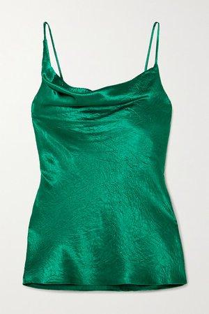 Sies Marjan | Amira draped crinkled-satin camisole | NET-A-PORTER.COM