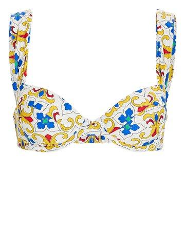 WeWoreWhat Claudia Pearl Tile Printed Bikini Top | INTERMIX®