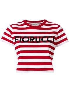 Pinterest $85 Fiorucci Striped Cropped T-shirt - Farfetch