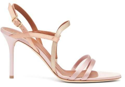 Sage Satin Stiletto Sandals - Womens - Pink Multi