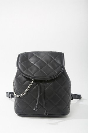 Quilted Drawstring Flap-Top Backpack | Forever 21