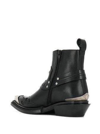Balenciaga Santiag 40 Ankle Boots 579630WA921 Black   Farfetch
