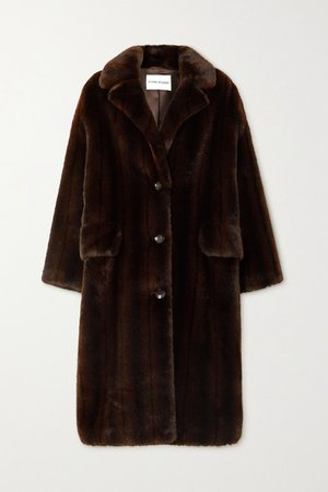 Theresa Faux Fur Coat - Brown