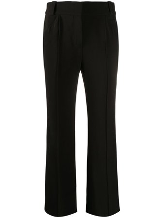 Fendi crease-detailing Flared Trousers - Farfetch