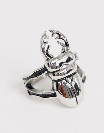 Reclaimed Vintage inspired stainless steel ring with beetle design exclusive to ASOS | ASOS