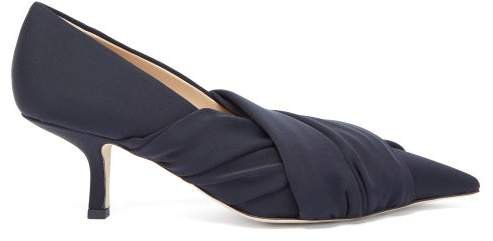 Point-toe Stretch-jersey Pumps - Womens - Black