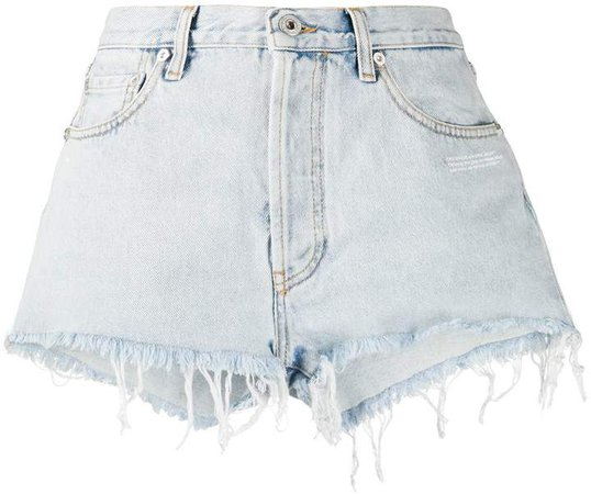 Off White frayed-edge shorts