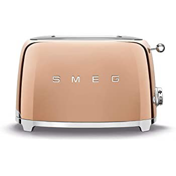 Amazon.com: Smeg TSF01RGUS Limited Edition 50's Retro Style Aesthetic 2 Slice Toaster Rose Gold, Copper: Kitchen & Dining