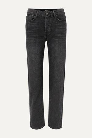 Helena High-rise Straight-leg Jeans - Black