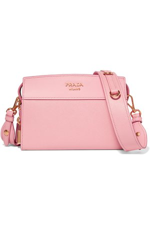 Prada | Esplanade smooth and textured-leather shoulder bag | NET-A-PORTER.COM