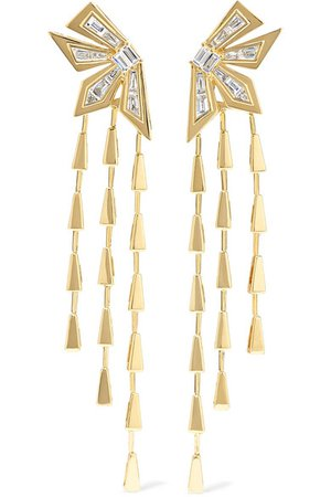 Stephen Webster | Dynamite Cascade 18-karat gold diamond earrings | NET-A-PORTER.COM