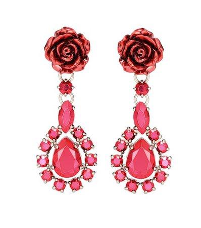 Rose Jewels clip-on earrings