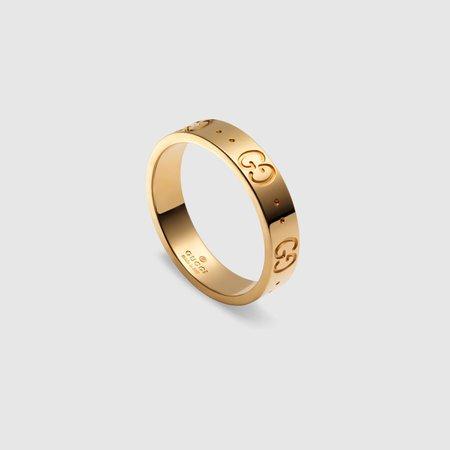 18k Yellow Gold Icon Thin Band | GUCCI® PT