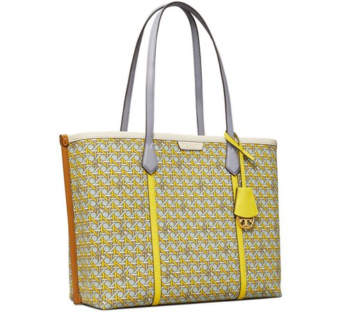 Perry Printed Canvas Triple-Compartment Tote Bag