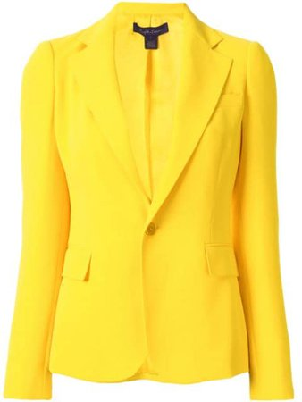 Ralph Lauren Collection tailored single-breasted blazer yellow 290787694001 - Farfetch