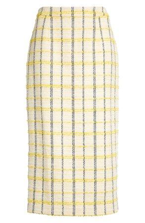 Halogen® Plaid Tweed Pencil Skirt (Regular & Petite) | Nordstrom