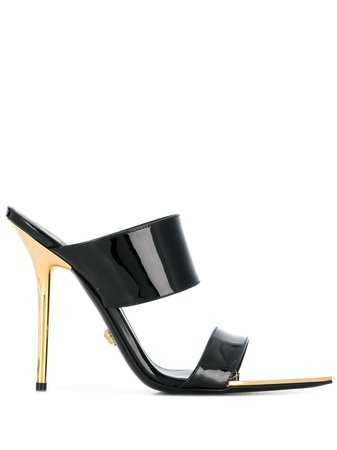 Black Versace Stiletto Sandals   Farfetch.com