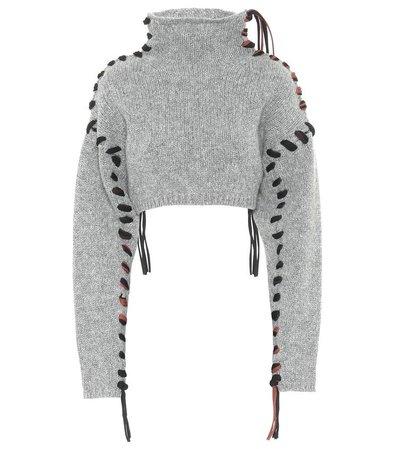 Acne Studios - Cropped wool turtleneck sweater