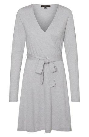 VERO MODA Karissara Long Sleeve Faux Wrap Dress | Nordstrom