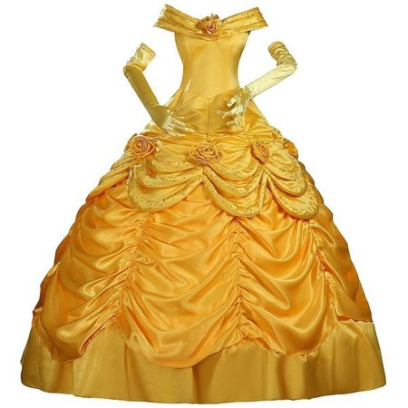 Corsea Cosplay Beauty And Beast Princess Belle Disney Park Classic Satin Cosplay Costume Custom Sizing
