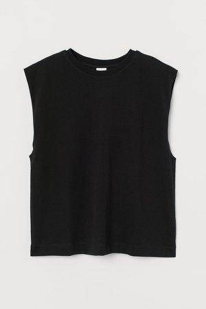 Sleeveless T-shirt - Black