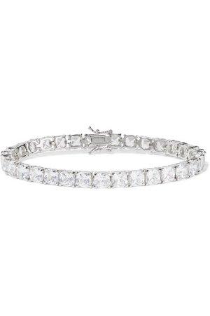 Kenneth Jay Lane | Silver-tone cubic zirconia bracelet | NET-A-PORTER.COM