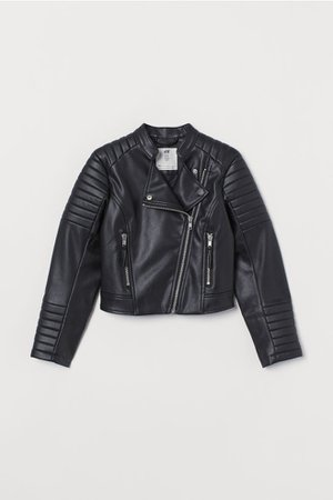 Biker Jacket - Black - Kids   H&M US
