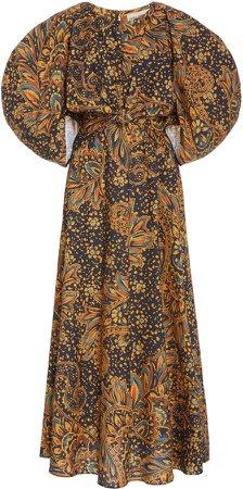 Mara Hoffman Fran Puffed-Sleeve Cotton Dress