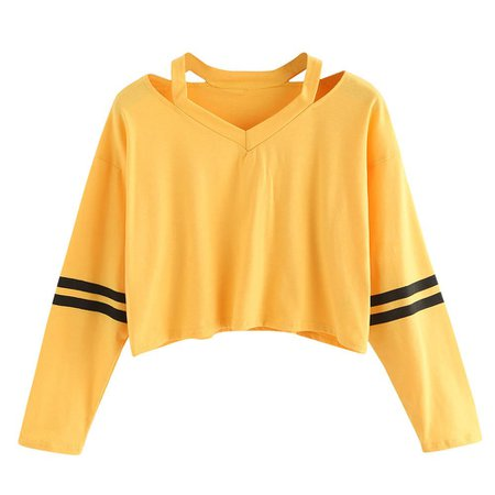 black and yellow crop hoodie striped - Google Search