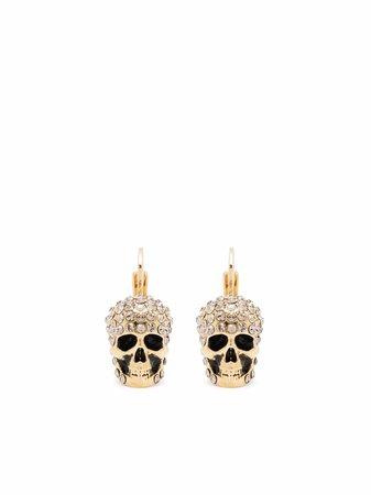 Alexander McQueen crystal-embellished Skull Earrings - Farfetch