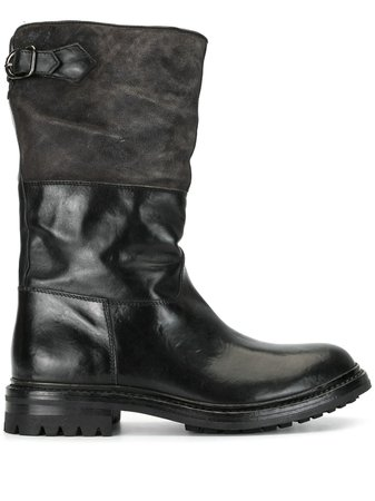 Black Officine Creative panelled boots - Farfetch