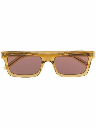 Saint Laurent Eyewear slim rectangular sunglasses - FARFETCH