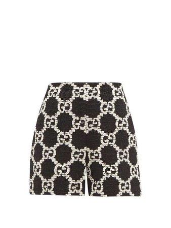 GG bouclé-tweed cotton-blend shorts | Gucci
