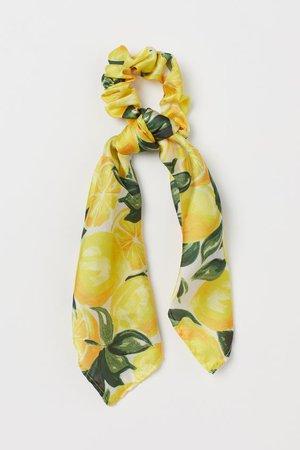 Scarf-detail Scrunchie - Yellow/lemons - Ladies | H&M US