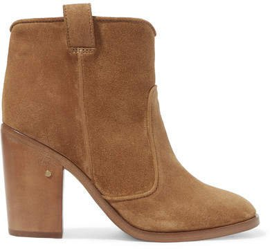 Nico Suede Ankle Boots - Camel
