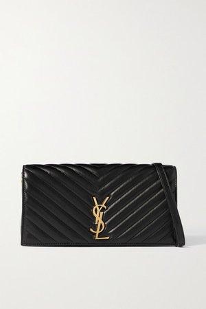 Kate 99 Quilted Leather Shoulder Bag - Black