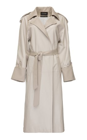 SITUATIONIST Belted Cotton Trench