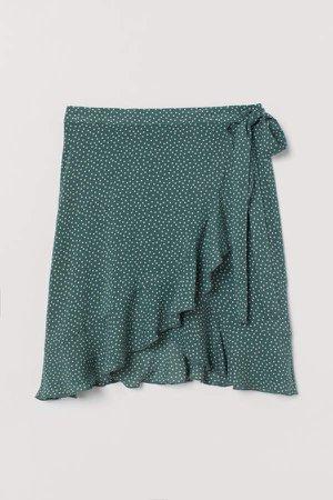 Patterned Beach Skirt - Green