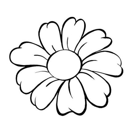 flower outline - Google Search