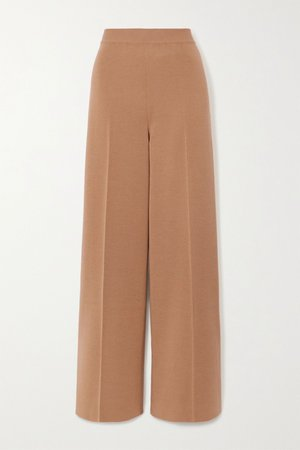 Camel Cashmere and silk-blend wide-leg pants | Loro Piana | NET-A-PORTER