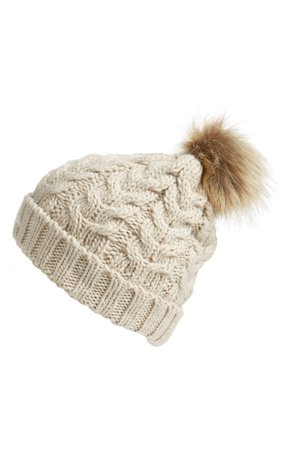 BP. Knit Beanie with Faux Fur Pompom | Nordstrom